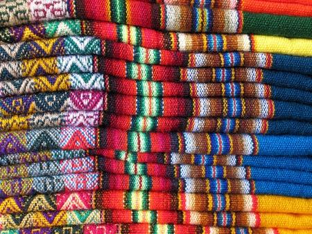 Amérique du Sud, tissus indiens