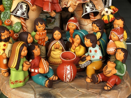 handicrafts: Ancient ceramic sculptures Stock Photo