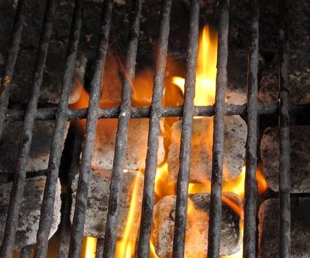 BBq ready Hot carbon Banque d'images