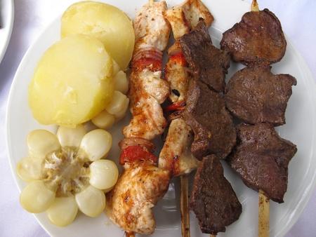 alimentation: Peruvian culinary : Anticucho de corazon