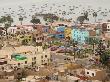 Chorrillos vue, Lima - Pérou Banque d'images
