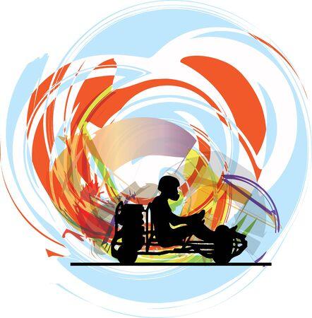 Kart race. Vector illustration Stock Vector - 14840675