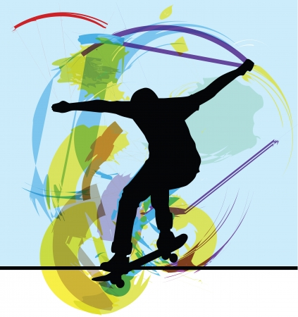 Skateboarding illustration Vector