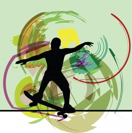 Skateboarding illustration Vector