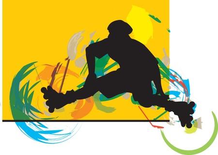 Skater illustration illustration Stock Vector - 14840652