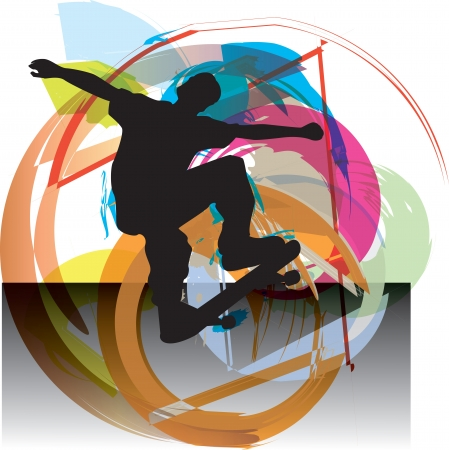 Skater illustration illustration Vector