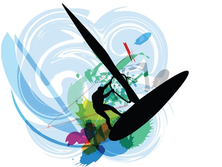 windsurf: Windsurfing illustration