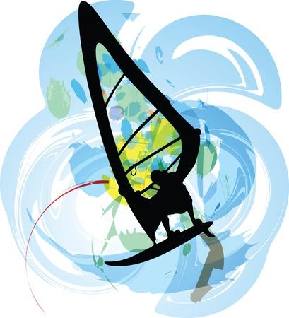 Windsurfen Darstellung