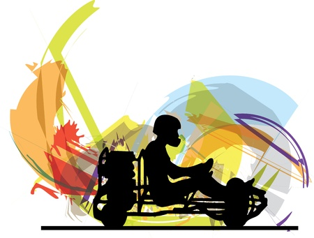 Kart race illustration Stock Vector - 15194836