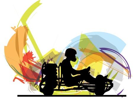 Kart race illustration Stock Vector - 15194836
