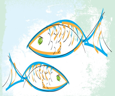 peces de agua salada: Fish ilustraci�n