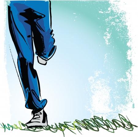 athleticism: Running man illustration Illustration