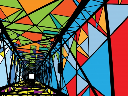 electrical tower: Ilustraci�n abstracta Torre el�ctrica Vectores