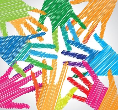 Union touch Illustration Stock Vector - 15194859