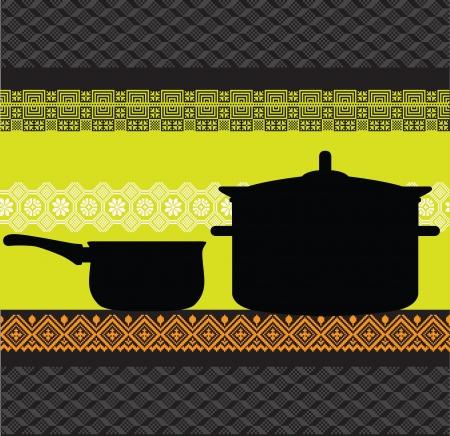 Pan illustration Illustration