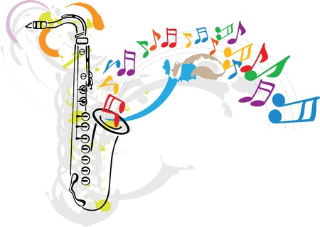 jazz band: Music festival.  Illustration