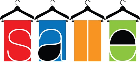 clothes hanger illustration Stock Vector - 15689703