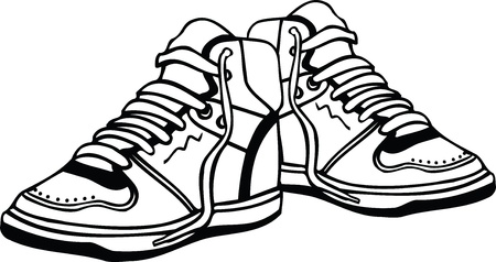 sneakers: Sport shoes illustration