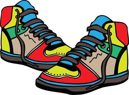 chaussure sport: Chaussures de sport illustration