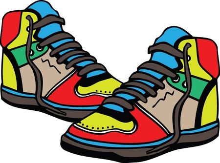 sport wear: Sport shoes illustration