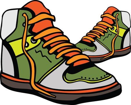 Sport shoes illustration Vector