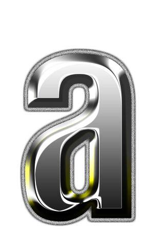 3d silver font. Vector illustration Stock Illustration - 16011650