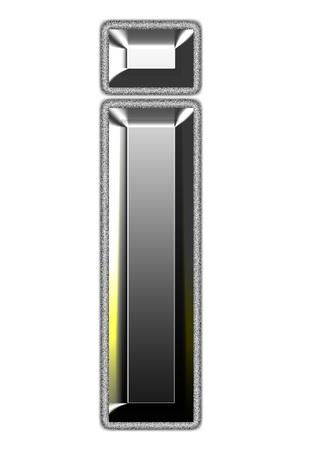 3d silver font. Vector illustration Stock Illustration - 16011643