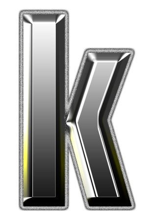 3d silver font. Vector illustration illustration