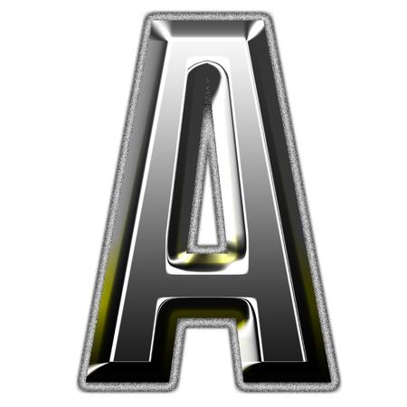 3d silver font. Vector illustration Stock Illustration - 16006483