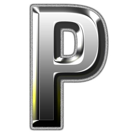 3d silver font. Vector illustration