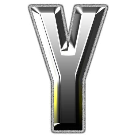 3d silver font. Vector illustration Stock Illustration - 16011627