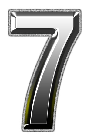 three dimensions: 3d silver font. Vector illustration