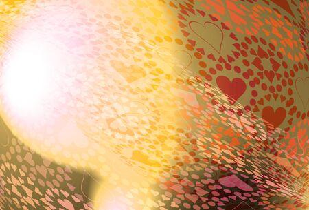 Heart pattern illustration illustration