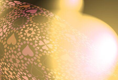 textil: Heart pattern illustration