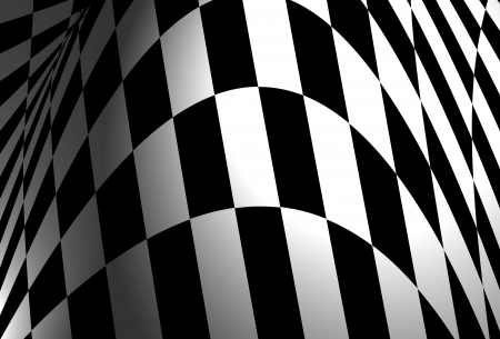 Checkered flag illustration illustration