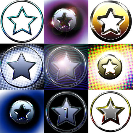 Nine different stars photo