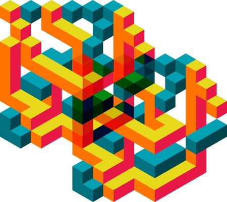 Fondo colorido abstracto Ilustración de vector