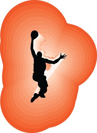 Basketball player in action. Vector illustration Vector