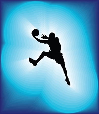 Basketball player in action. Vector illustration Stock Vector - 16583837