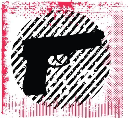 gun  illustration Stock Vector - 16647333