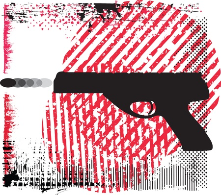 gun  illustration Vector