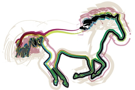 abstract horse illustration Stock Vector - 16647376