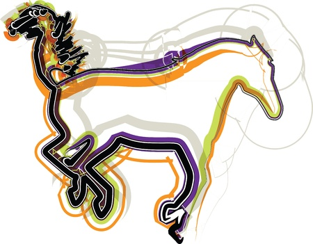 abstract horse illustration Stock Vector - 16647362
