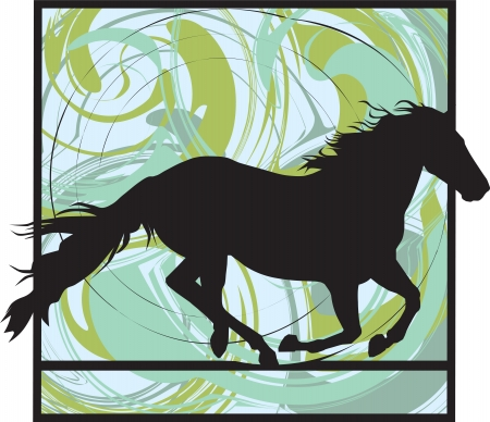 galop: illustration abstraite cheval Illustration