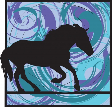 abstract horse illustration Vector