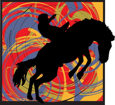 western saddle: abstract horse illustration