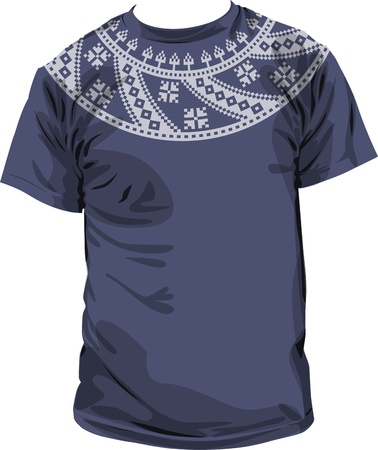 Ancient t-shirt. Vector Illustration Vector