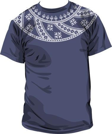 Ancient t-shirt. Vector Illustration Vector