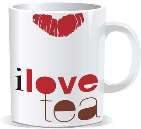 i love tea cup Stock Vector - 17041111