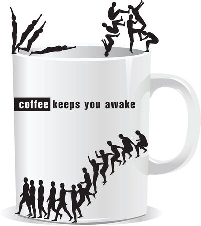 keeps: coffee keeps you awake Illustration